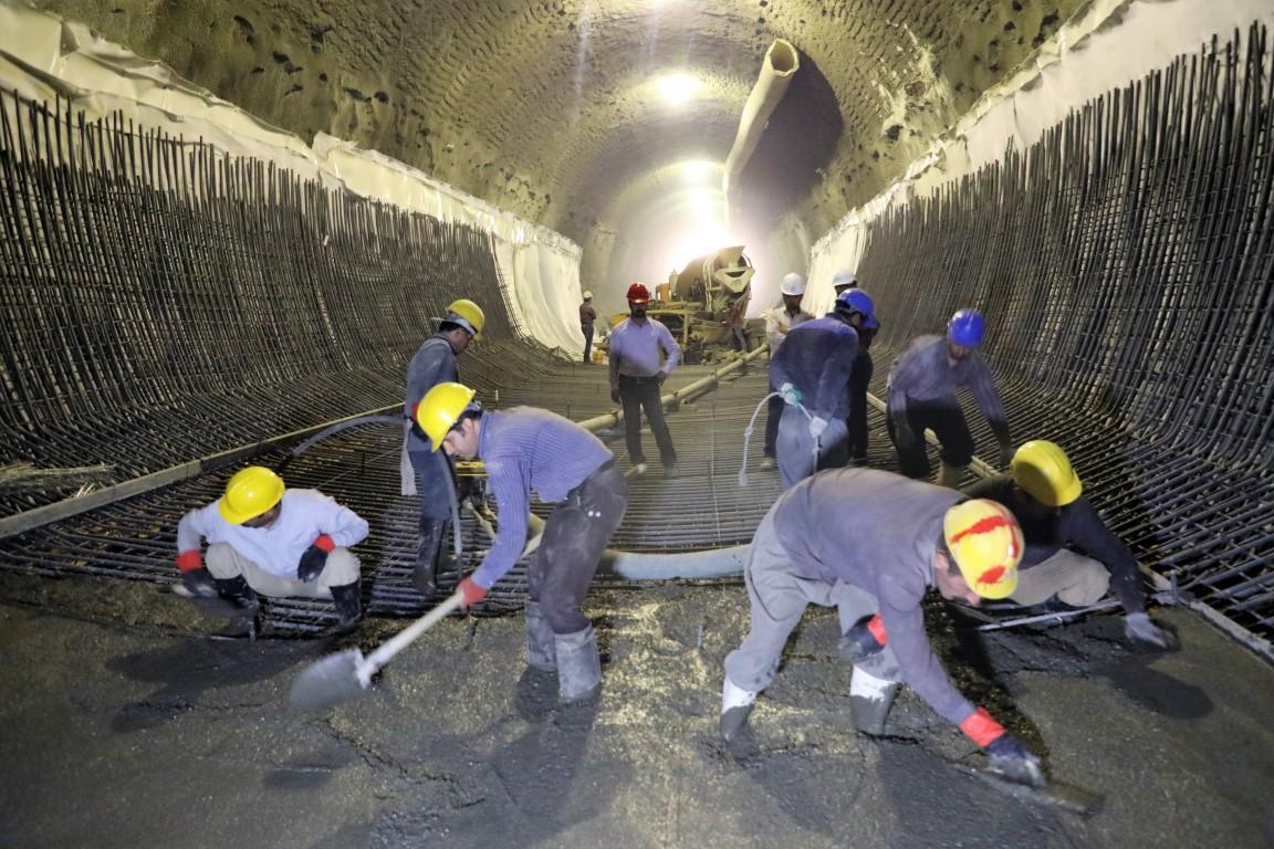 احداث قطعه یک تونل جنوبی خط یک قطار شهری کرمانشاه